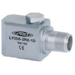 LP258 alacsony árfekvésű, loop power rezgéssebesség érzékelő és távadó: 4-20 mA, oldalsó kivezetésű M8-as átmenő csavarral