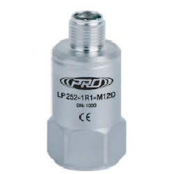 LP252-M12D alacsony árfekvésű, loop power rezgéssebesség érzékelő és távadó: 4-20 mA, felső kivezetésű M12-es csatlakozó