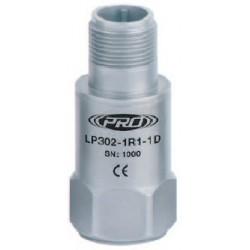 LP302 loop power rezgésgyorsulás érzékelő és távadó: 4-20 mA, felső kivezetésű