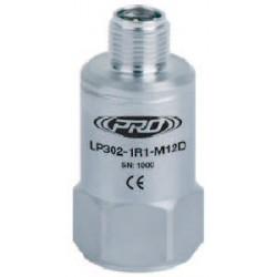 LP302-M12D loop power rezgésgyorsulás érzékelő és távadó: 4-20 mA, felső kivezetésű M12-es csatlakozó
