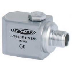 LP304-M12D loop power rezgésgyorsulás érzékelő és távadó: 4-20 mA, oldalsó kivezetésű M12-es csatlakozó