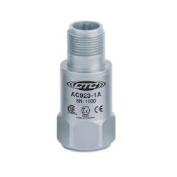 AC923 Class I besorolású rezgésgyorsulás érzékelő: 50 mV/g érzékenység, ív és szikra mentes, felső kivezetésű