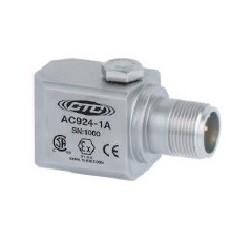 AC924 Class I besorolású rezgésgyorsulás érzékelő: 50 mV/g érzékenység, ív és szikra mentes, oldalsó kivezetésű