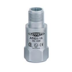 AC931 Class I besorolású rezgésgyorsulás érzékelő: 10 mV/g érzékenység, ív és szikra mentes, felső kivezetésű