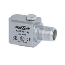 AC934 Class I besorolású rezgésgyorsulás érzékelő: 50 mV/g érzékenység, ív és szikra mentes, oldalsó kivezetésű