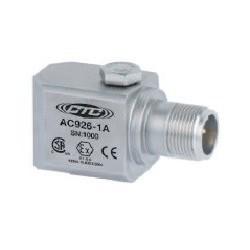 AC926 Class I besorolású rezgésgyorsulás érzékelő: 100 mV/g érzékenység, ív és szikra mentes, oldalsó kivezetésű