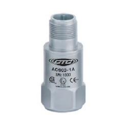 AC903 gyújtószikramentes rezgésgyorsulás érzékelő: 50 mV/g érzékenység, felső kivezetésű