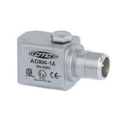 AC904 gyújtószikramentes rezgésgyorsulás érzékelő: 50 mV/g érzékenység, oldalsó kivezetésű