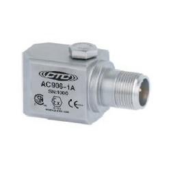 AC906 gyújtószikramentes rezgésgyorsulás érzékelő: 100 mV/g érzékenység, oldalsó kivezetésű