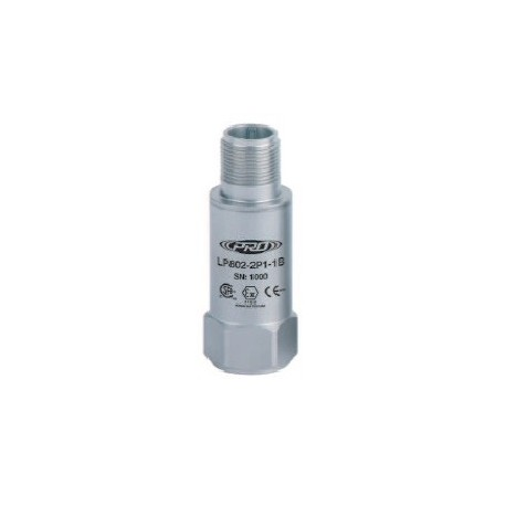 LP802 gyújtószikramentes, loop power rezgéssebesség érzékelő és távadó: 4-20 mA, felső kivezetésű