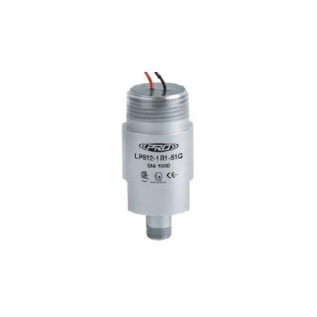 LP812-5XC gyújtószikramentes, loop power rezgéssebesség érzékelő és távadó: 4-20 mA, felső kivezetésű szabad vezetékér