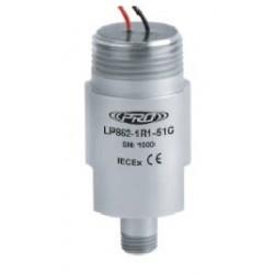 LP862-5XC IECEx minősítésű, loop power rezgéssebesség érzékelő és távadó: 4-20 mA, felső kivezetésű szabad vezetékér