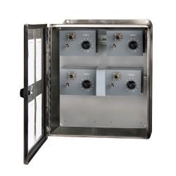 SSB2002 12 ,24, 36 vagy 48 jelbemenetű, 1 kapcsolható jelkimenetű modullal, rozsdamentes gyűjtődoboz