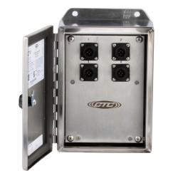 MX403-12 Ch 12 egyirányú, vagy 4 triaxiális csatornás, jeladó doboz