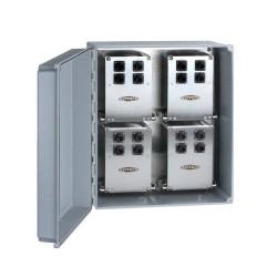 MX303-24-48 Ch 48 egyirányú, vagy 16 triaxiális csatornás, jelfogadó doboz