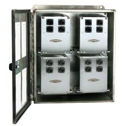 MX403-24-48 Ch 48 egyirányú, vagy 16 triaxiális csatornás, doboz