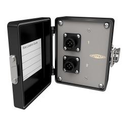 MX503-1-2 Triax Ch 1 vagy 2 triaxiális csatornás, jelfogó doboz