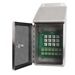 MX262 1-12 csatornás rozsdamentes acél MAXX dobozok lejtős felülettel