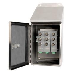 MMX6000 Rozsdamentes acél MAXX doboz lejtős felülettel 3, 6 vagy 9 csatornás