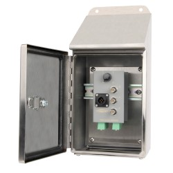 TSB6000 - 12 Channel - Stainless Steel Sloped Top Enclosure, Triaxial Output