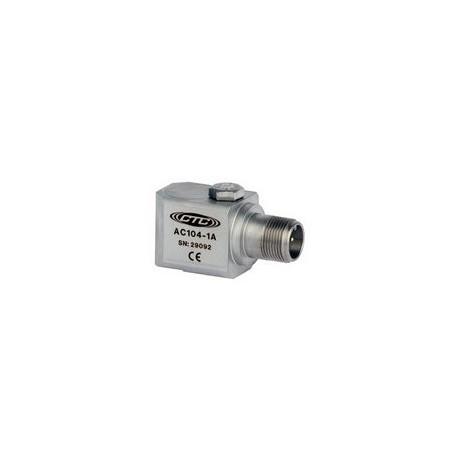 AC104 Általános célú rezgésgyorsulás érzékelő oldalsó kivezetéssel, 100 mV/g