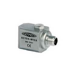 AC104-M12A Multi-Purpose Accelerometer, Side Exit M12 Connector, 100 mV/g