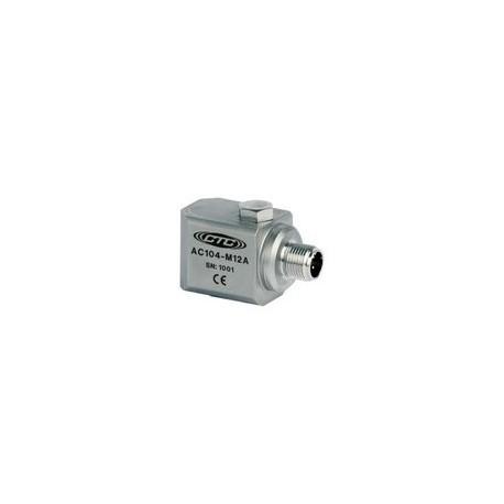 AC104-M12A rezgésgyorsulás érzékelő: 100 mV/g, M12 csatlakozó