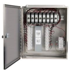 XE250 Rozsdamentes acélházak, 1-8 csatornás SC200 sorozatú jelkondicionálók