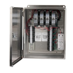 XE250T Rozsdamentes acélházak, 1-4 csatornás SC200 sorozatú jelkondicionálók