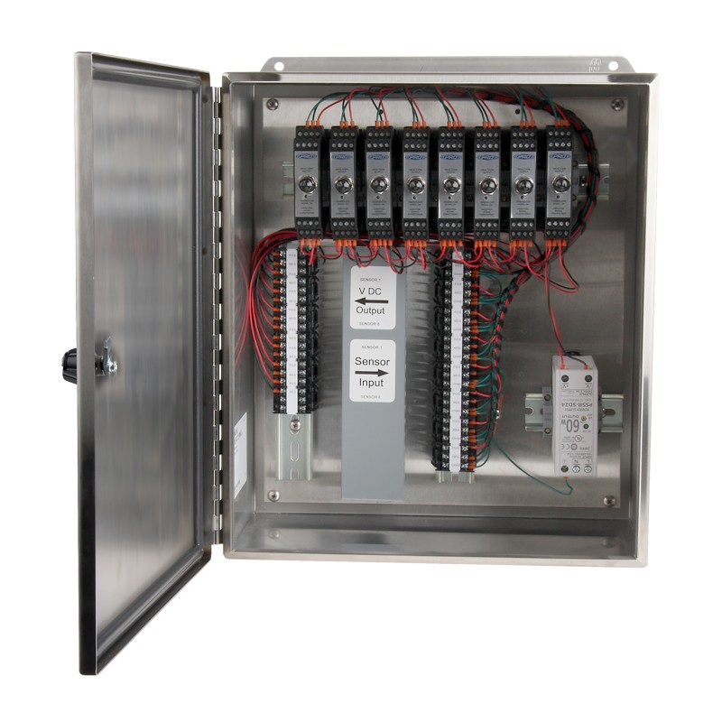 XE450 Stainless Steel Enclosures, 1-8 Channel SC200 Series