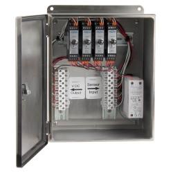 XE450T rozsdamentes acélházak, 1-4 csatornás SC200 sorozatú jelkondicionálók