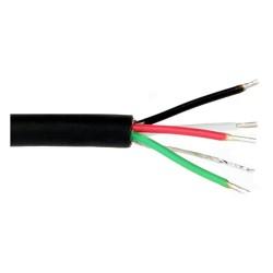 CB105 4 vezető, árnyékolt, fekete poliuretán burkolatú kábel