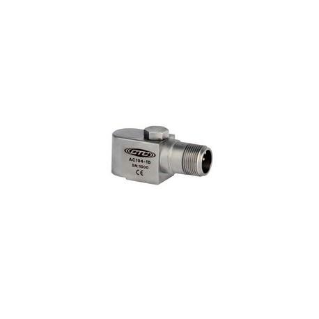 AC194 rezgésgyorsulás érzékelő: 100 mV/g érzékenységű, multifunkciós, oldalsó kivezetésű