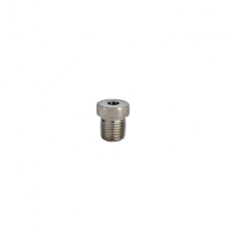 "MH108-14B 1/2"" NPT plug to 1/4-28 threaded hole adapter"