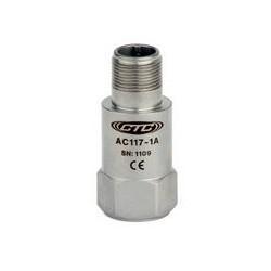 AC117 rezgésgyorsulás érzékelő: általános célú, 50 mV/g érzékenység, felső kivezetésű