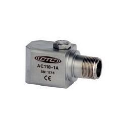 AC118 rezgésgyorsulás érzékelő: általános célú, 50 mV/g érzékenység, oldalsó kivezetésű