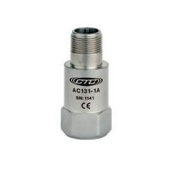 AC131 rezgésgyorsulás érzékelő: 10 mV/g érzékenység, felső kivezetésű