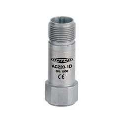 AC220 rezgésgyorsulás érzékelő: 10 mV/g érzékenység, kis méretű, nagy frekvenciás, felső kivezetésű