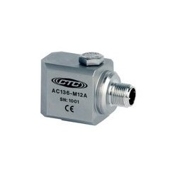 AC136-M12A rezgésgyorsulás érzékelő: alacsony frekvenciás, 500 mV/g, M12-es csatlakozó, oldalsó kivezetésű
