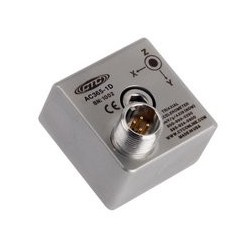 AC365 rezgésgyorsulás érzékelő: 100 mV/g érzékenység, háromirányú, felső kivezetésű