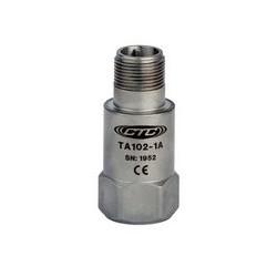 TA102 rezgésgyorsulás és hőmérséklet érzékelő: 100 mV/g, 10 mV/°C érzékenység, felső kivezetésű