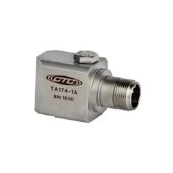 TA174 rezgésgyorsulás és hőmérséklet érzékelő: 100 mV/g, 10 mV/°C érzékenység, oldalsó kivezetésű