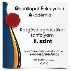 Rezgésdiagnosztikai tanfolyam II. szint