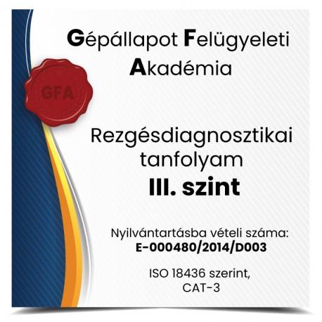 Rezgésdiagnosztikai tanfolyam III. szint