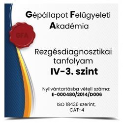 Rezgésdiagnosztikai tanfolyam IV-3. szint