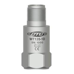 WT135 alacsony frekvenciás rezgésgyorsulás érzékelő, 500 mV/g, felső kivezetésű