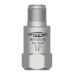 WT135 Low Frequency Accelerometer, 500 mV/g, Top Connector