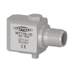 WT136 alacsony frekvenciás rezgésgyorsulás érzékelő, 500 mV/g, oldalsó kivezetésű