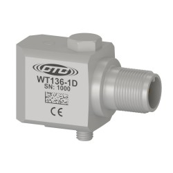 WT135 Low Frequency Accelerometer, 500 mV/g, Side Connector