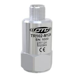 TR102-M12A - RTD érzékelő, 100 mV/g, felső csatlakozó
